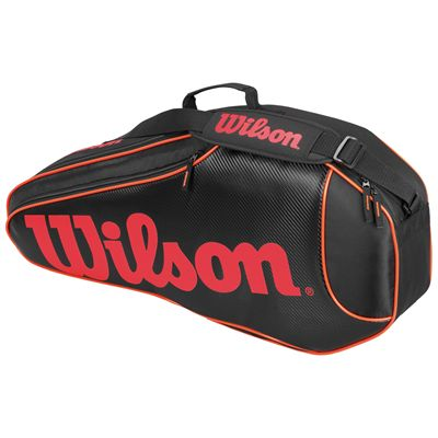 Wilson Burn Team Triple Racket Bag-Black-Orange-Front