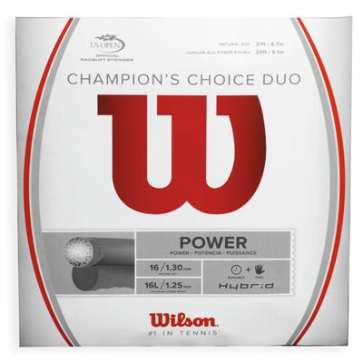 Wilson Champions Choice Duo Hybrid 16 Tennis String Set