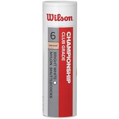 Wilson Championship Shuttlecocks - Tube of 6