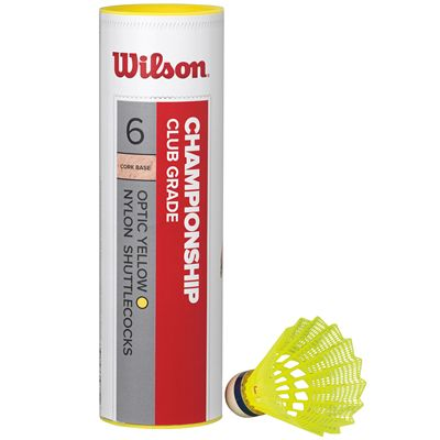 Wilson Championship Shuttlecocks-Yellow-Tube of 6