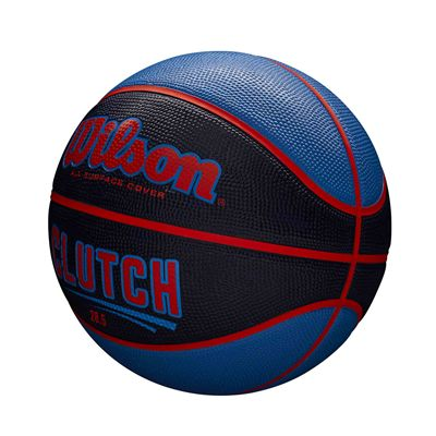 Wilson Clutch Basketball SS19 - Black/Blue - Size 6 - Angled