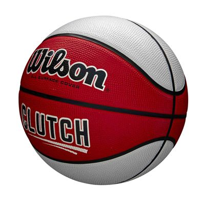 Wilson Clutch Basketball SS19 - Red White - Angled