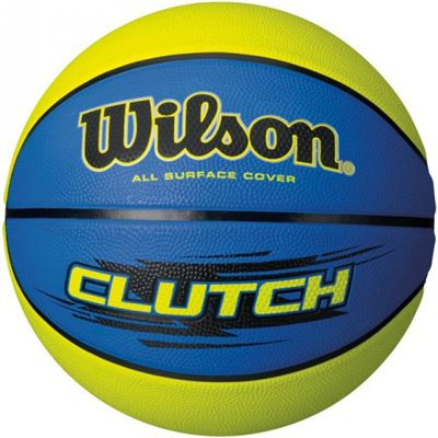 Wilson Clutch Basketball-Blue and Yellow