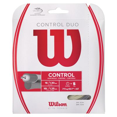 Wilson Control Duo Hybrid 16 Tennis String Set