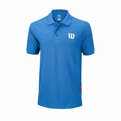 Wilson Core Cotton W Mens Polo Shirt - Blue
