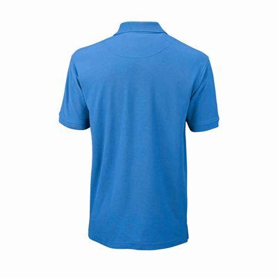 Wilson Core Cotton W Mens Polo Shirt - Blue/Back