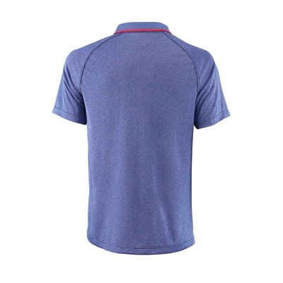 Wilson Core Mens Polo Shirt SS18 - Blue - Back