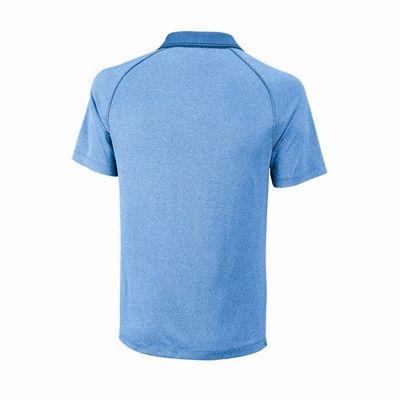 Wilson Core Mens Polo Shirt - Blue/Back
