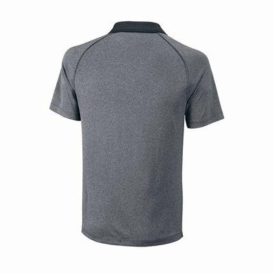 Wilson Core Mens Polo Shirt - Grey/Back