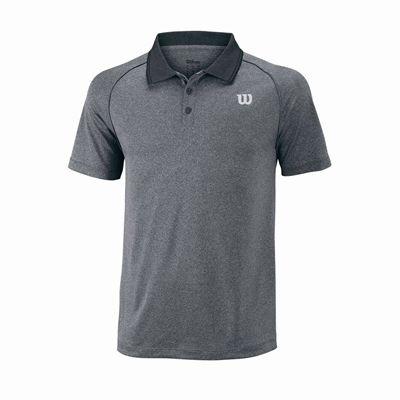 Wilson Core Mens Polo Shirt - Grey