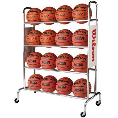 Wilson Deluxe 16 Balls Basketball Rack Image