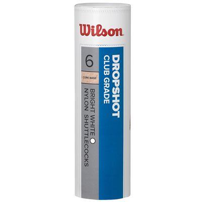 Wilson Dropshot Shuttlecocks-Medium Speed-White-Tube of 6