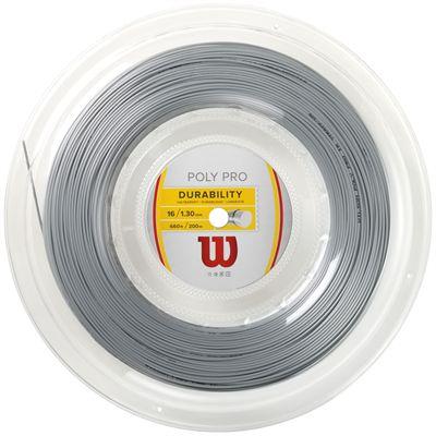 Wilson Durability Poly Pro 16 Tennis String 200m Reel-Silver