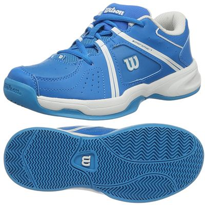 Wilson Envy Junior Tennis Shoes - Blue/White