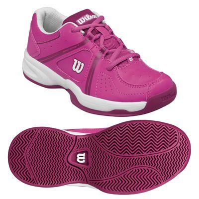 Wilson Envy Junior Tennis Shoes - Pink/Rose