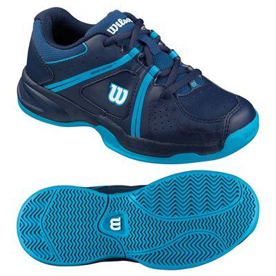Wilson Envy Junior Tennis Shoes-Blue-Green-Image