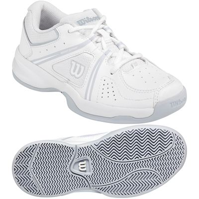 Wilson Envy Junior Tennis Shoes-White-Grey-Image
