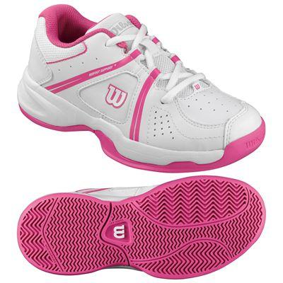 Wilson Envy Junior Tennis Shoes-White-Pink-Image