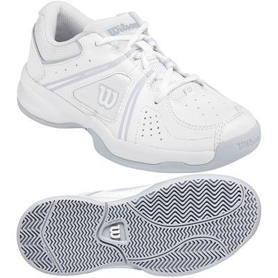 Wilson Envy Junior Tennis Shoes - White/Grey