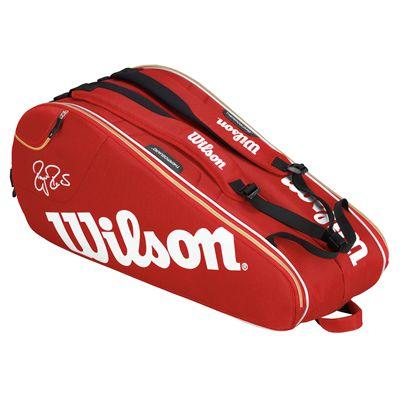 Wilson Federer Court 9 Racket Bag - Back