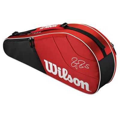 Wilson Federer Team 3 Racket Bag - Back