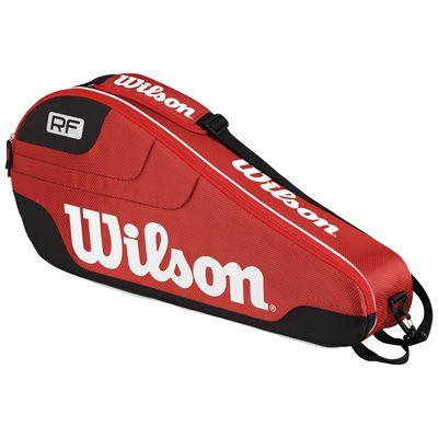 Wilson Federer Team III Triple Racket Bag-Red-Back