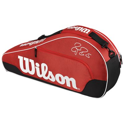 Wilson Federer Team III Triple Racket Bag-Red-Front