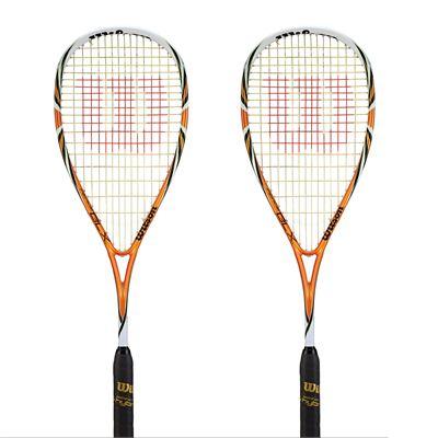 Wilson Fierce BLX Squash Racket Double Pack