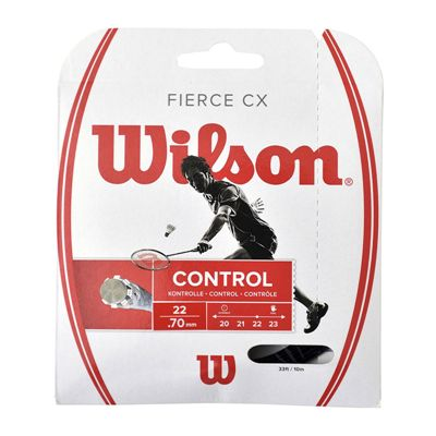 Wilson Fierce CX Badminton String Set-Black-070gauge