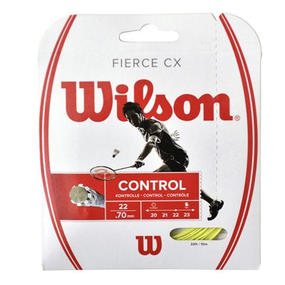 Wilson Fierce CX Badminton String Set-Lime-070gauge