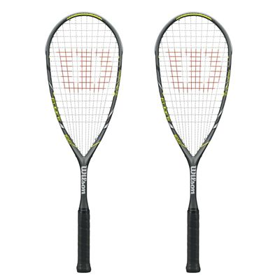 Wilson Force 165 BLX Squash Racket Double Pack