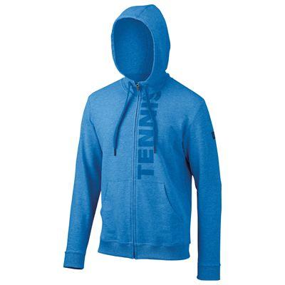 Wilson Full Zip Mens Hoodie-Blue-Front