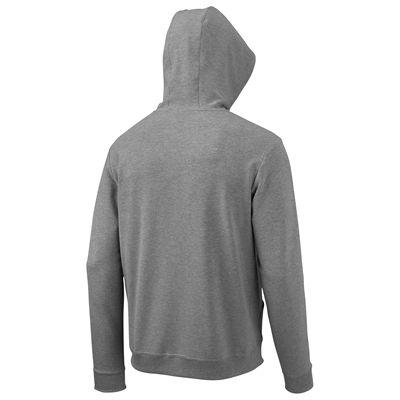 Wilson Full Zip Mens Hoodie-Grey-Red-Back