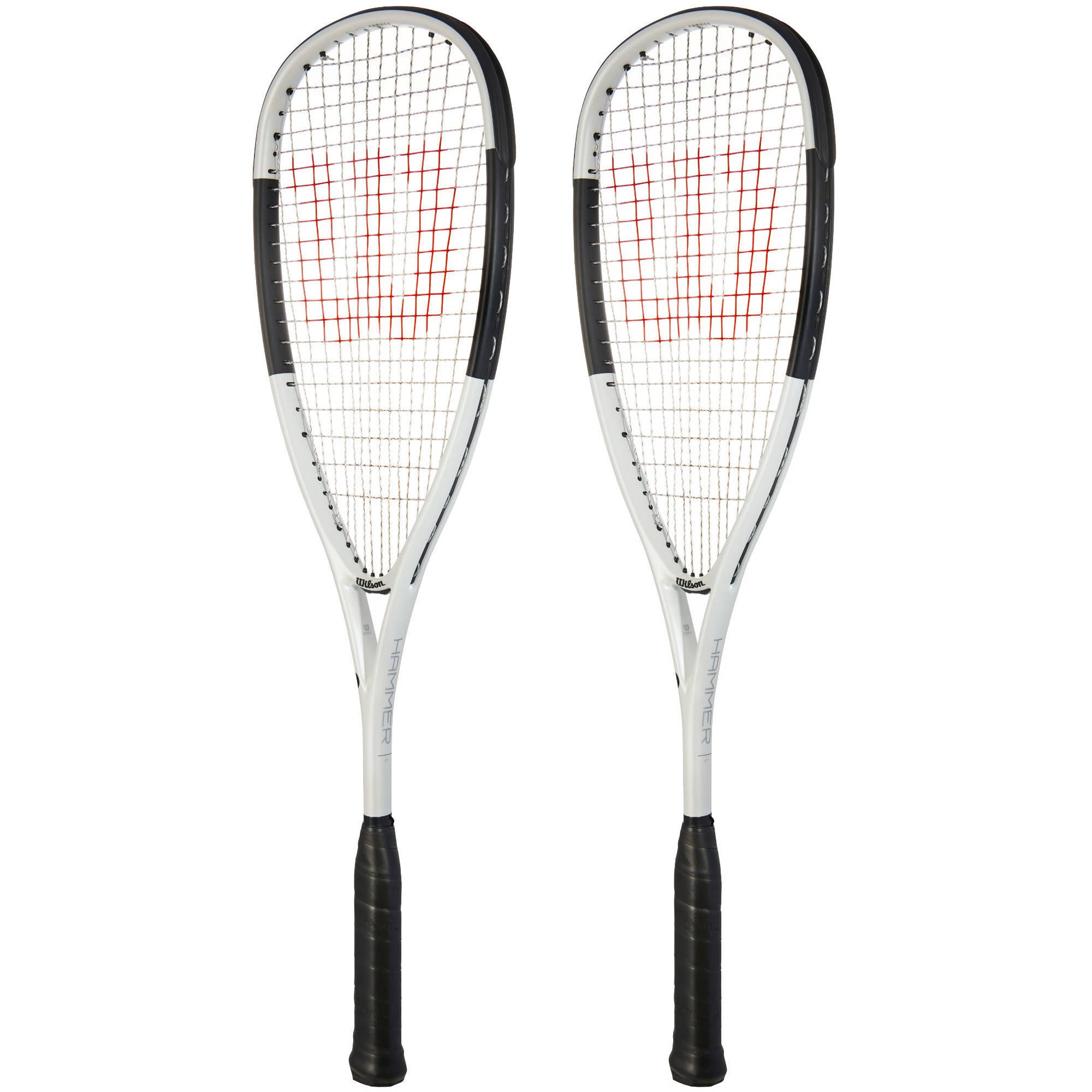Wilson Hammer Light 120 PH Squash Racket Double Pack - White/Black