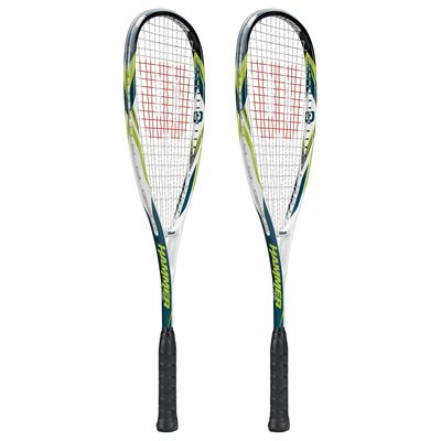 Wilson Hammer Lite BLX Squash Racket Double Pack-Side