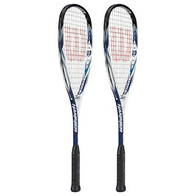 Wilson Hammer Tech Pro BLX Squash Racket Double Pack-Side