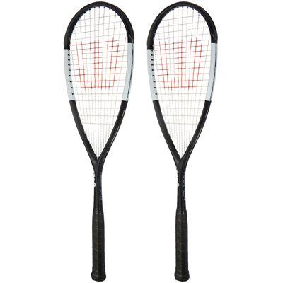 Wilson Hammer UL Squash Racket Double Pack - Black