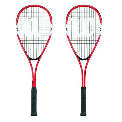 Wilson Impact Pro 300 Squash Racket Double Pack SS17