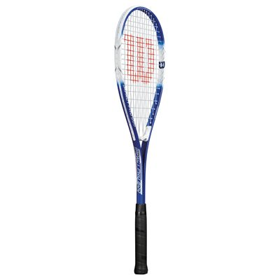 Wilson Impact Pro 500 Squash Racket-1/2 Cover-Blue/White-Angled