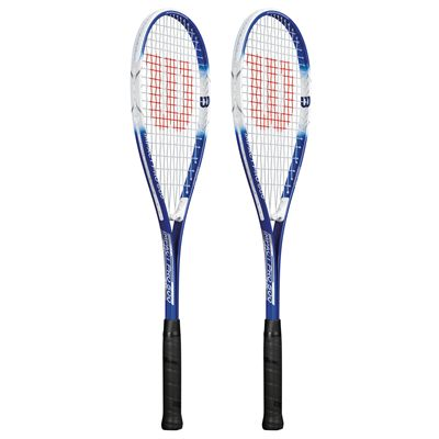 Wilson Impact Pro 500 Squash Racket Double Pack-Blue/White-Angled