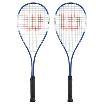 Wilson Impact Pro 500 Squash Racket Double Pack-Blue/White-Front