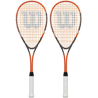 Wilson Impact Pro 500 Squash Racket Double Pack-Orange/Grey-Front