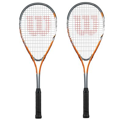 Wilson Impact Pro 500 Squash Racket Double Pack - orange