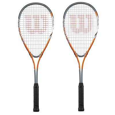 Wilson Impact Pro 500 Squash Racket Double Pack - orange