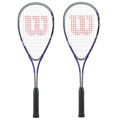 Wilson Impact Pro 500 Squash Racket Double Pack - blue