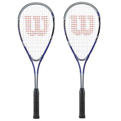 Wilson Impact Pro 500 Squash Racket Double Pack - blue