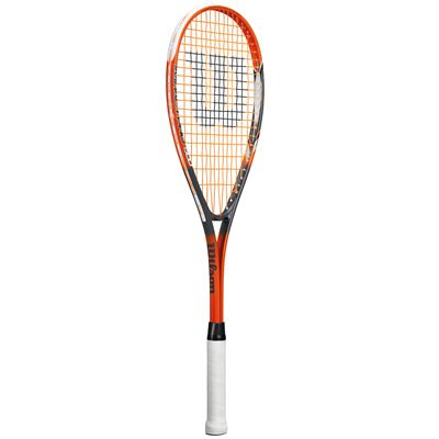 Wilson Impact Pro 500 Squash Racket-1/2 Cover-Orange-Grey-Angled View