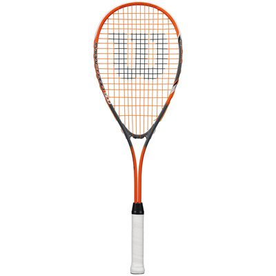 Wilson Impact Pro 500 Squash Racket-1/2 Cover-Orange-Grey-Front