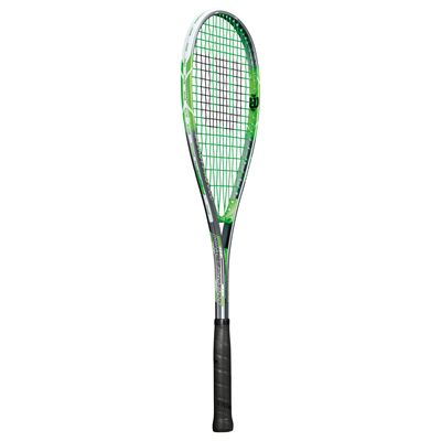 Wilson Impact Pro 900 Squash Racket-Head Cover-Grey-Green-Angled