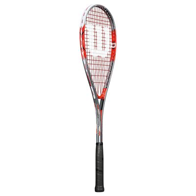 Wilson Impact Pro 900 Squash Racket-1/2 Cover-Red/Grey-Angled